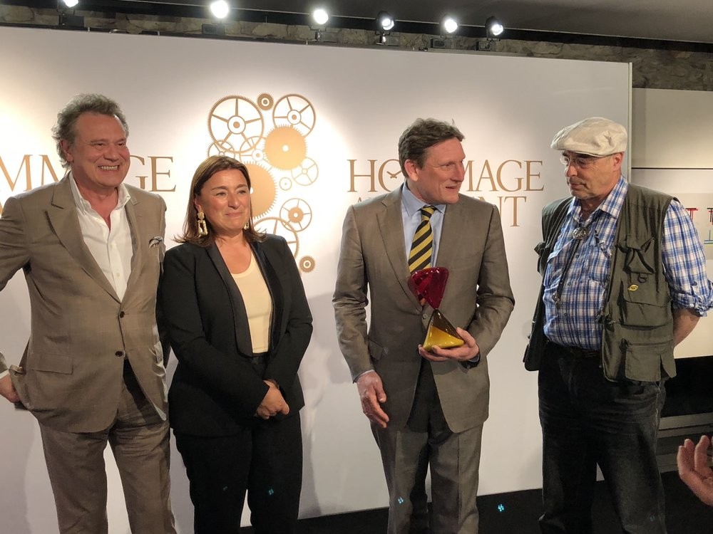 "F.P JOURNE (""Hommage au Talent"" 2016) - FABIENNE LUPO (FHH  Chairwoman & Managing Director)  - STEPHEN FORSEY (""Hommage au Talent"" 2018) - LUDWIG OECHSLIN (""Hommage à la Passion"" 2016)"