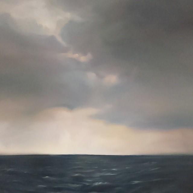 """Lake Ontario #1, oil on canvas, 30x36"""", 2015"""