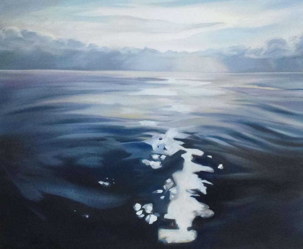 """Lake Ontario #3, 30x36"""", oil on canvas, 2015"""