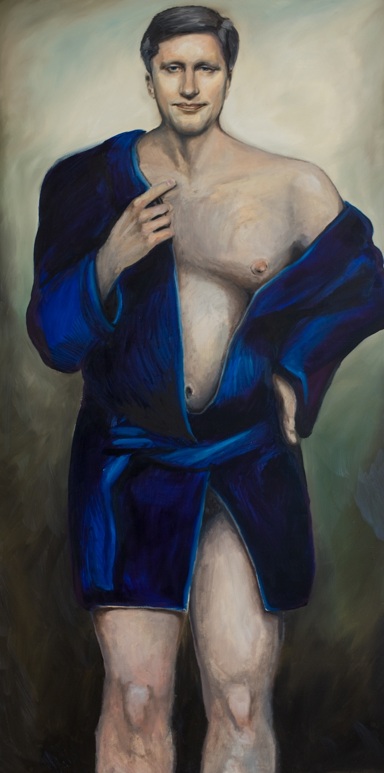 Oh, Stephen, Oil on Canvas, 3 x 6 feet, 2013.  Owned by private collector, Montreal, Quebec.