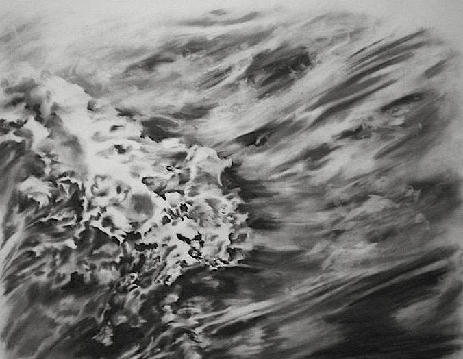 wave, charcoal on paper, 4x5', 2011