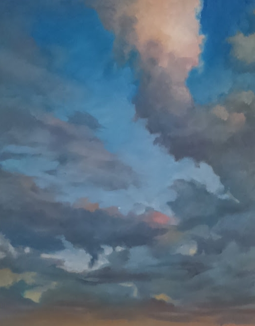 "Clouds over corktown #4, 11x14"", oil on panel, 2015"