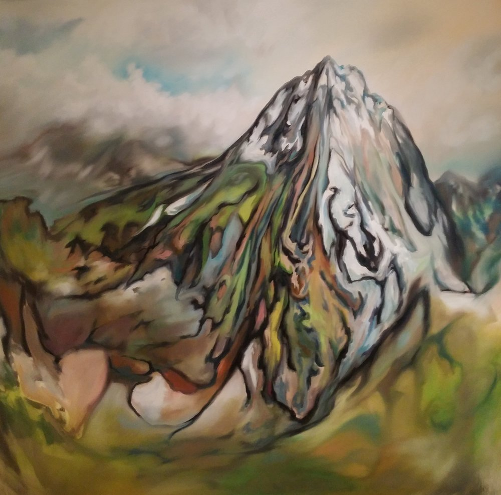 Mountain Peak,  oil on canvas, 68 x 72 inches, 2016