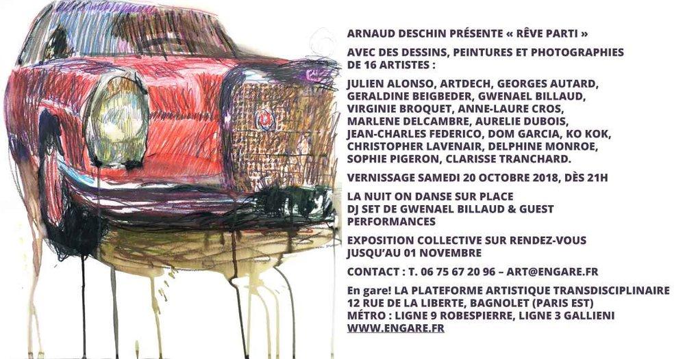 Jean-Charles Federico  Mercedes-Benz. 2016. 50x65cm, graphite, crayon de couleur, aquarelle, extrait