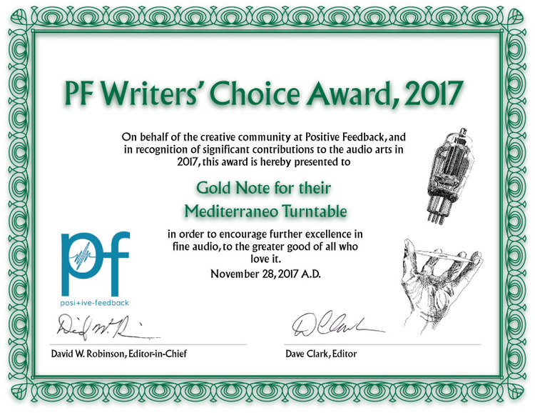 Mediterraneo | Positive Feedback - Writer's Choice Award 2017