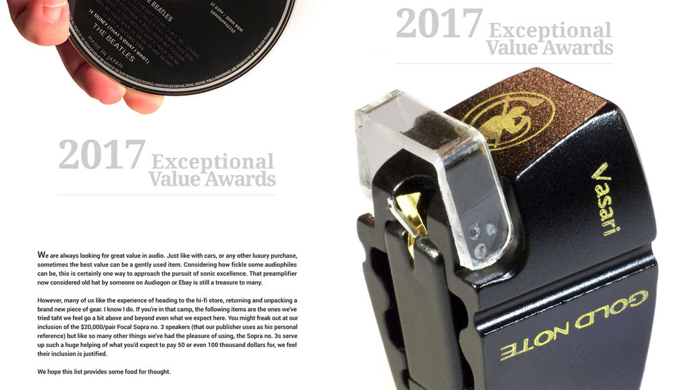 - WINNER OF THE EXCEPTIONAL VALUE AWARD 2017