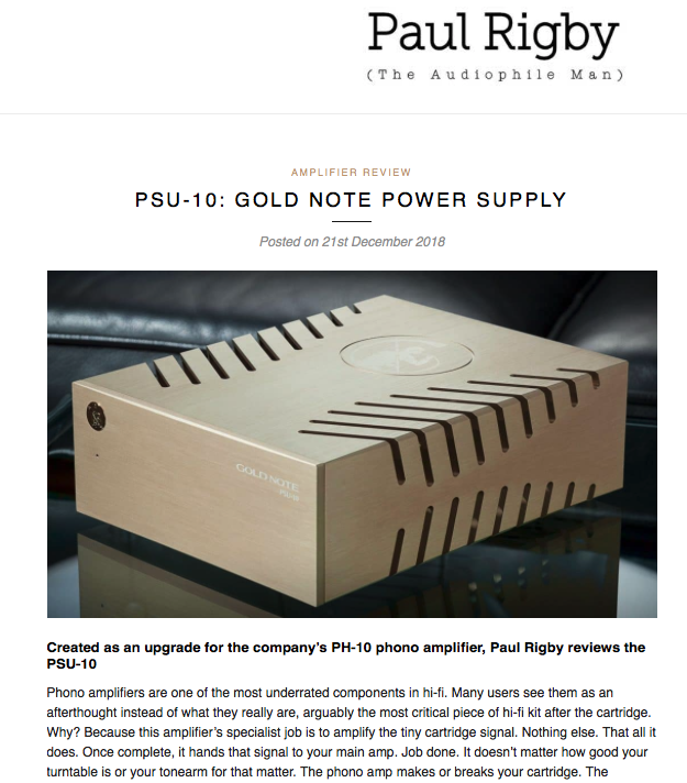 PSU-10 | The Audiophile Man — Gold Note