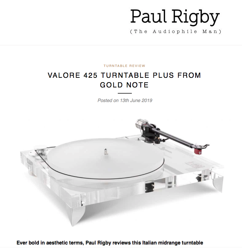 Valore 425 Plus | The Audiophile Man — Gold Note