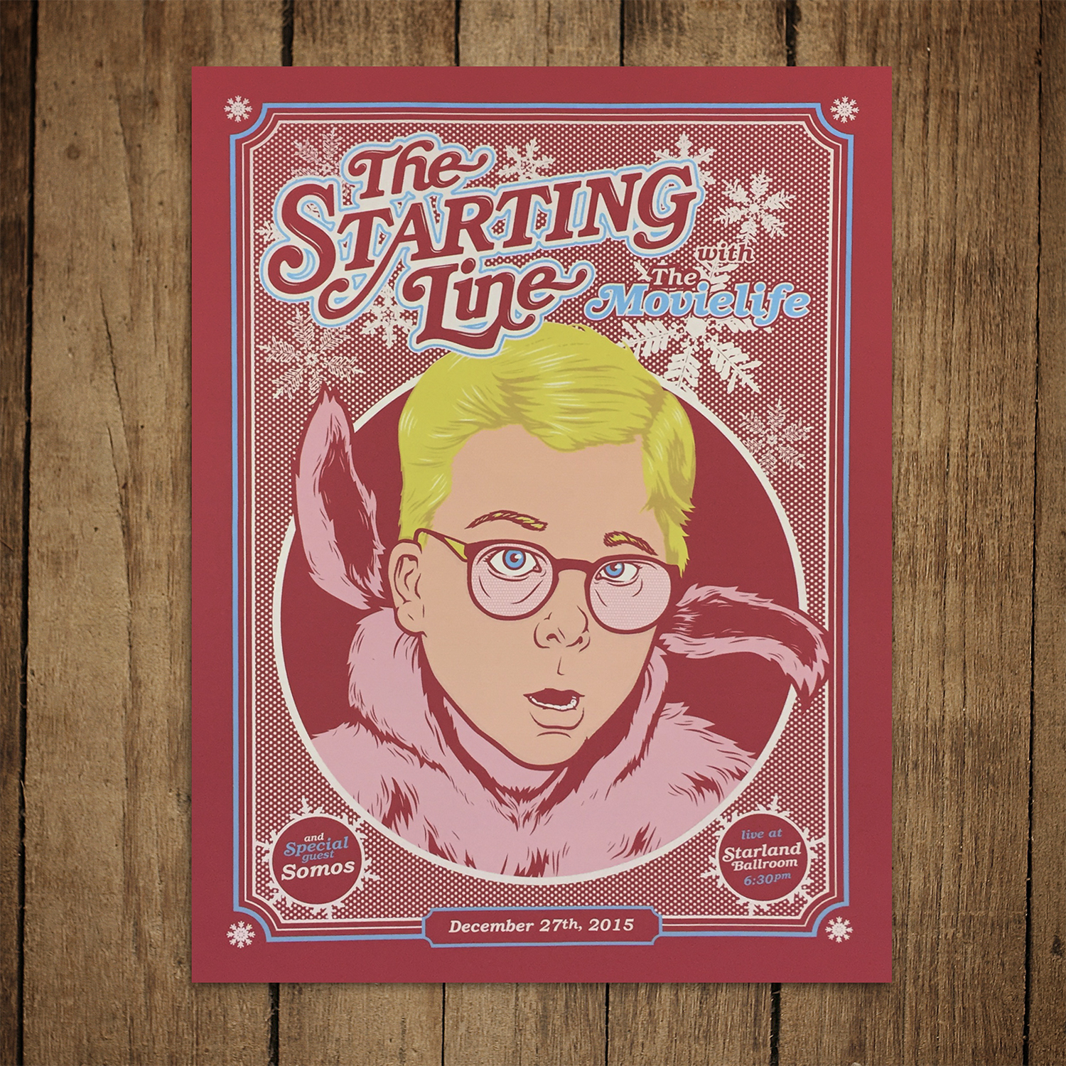 the starting line movielife somos 2015 holiday show gig poster