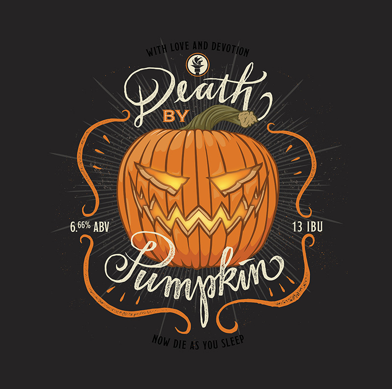 Death By Pumpkin - Indiana City Label
