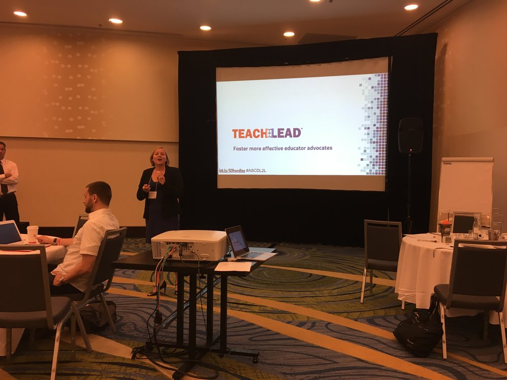 Meghan Everette kicks off the L2L session by talking about the Teach to Lead process.