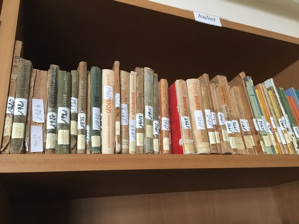 The library at Moulay Youssef HS had books from the 1920's!