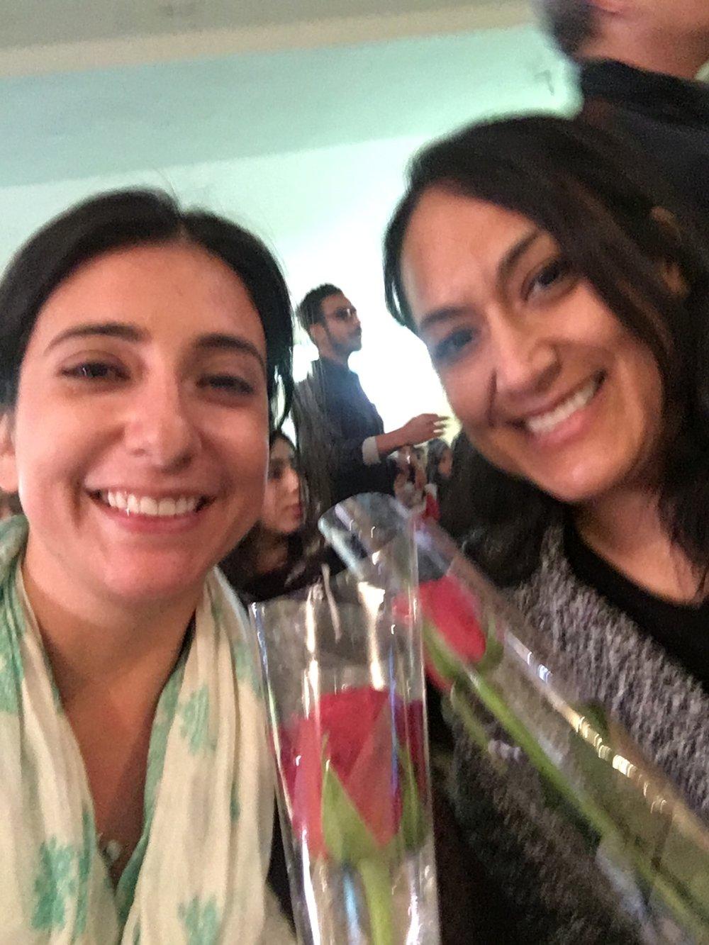 Maria and I felt so special at the cultural event at Tighnari High School.