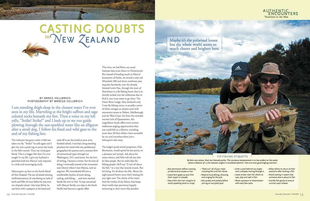 Article: Fly Fishing New Zealand
