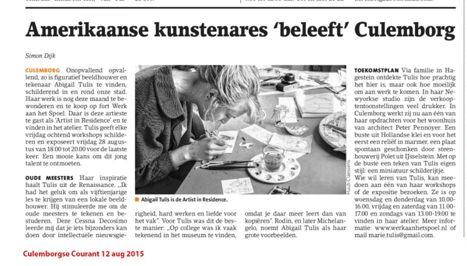 As Featured in the Culemborgse Courant, NL