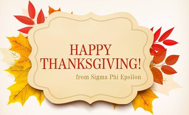 In this crazy world we live in, its so easy to get carried away with everything. Today we all take a step back to breathe and give thanks to everything we have and achieved. Thank you to all our brothers near and far for an amazing brotherhood. Thank you to an amazing Greek community and Campus for being amazing. Thank you to all our friends and family for your support. We love you guys.