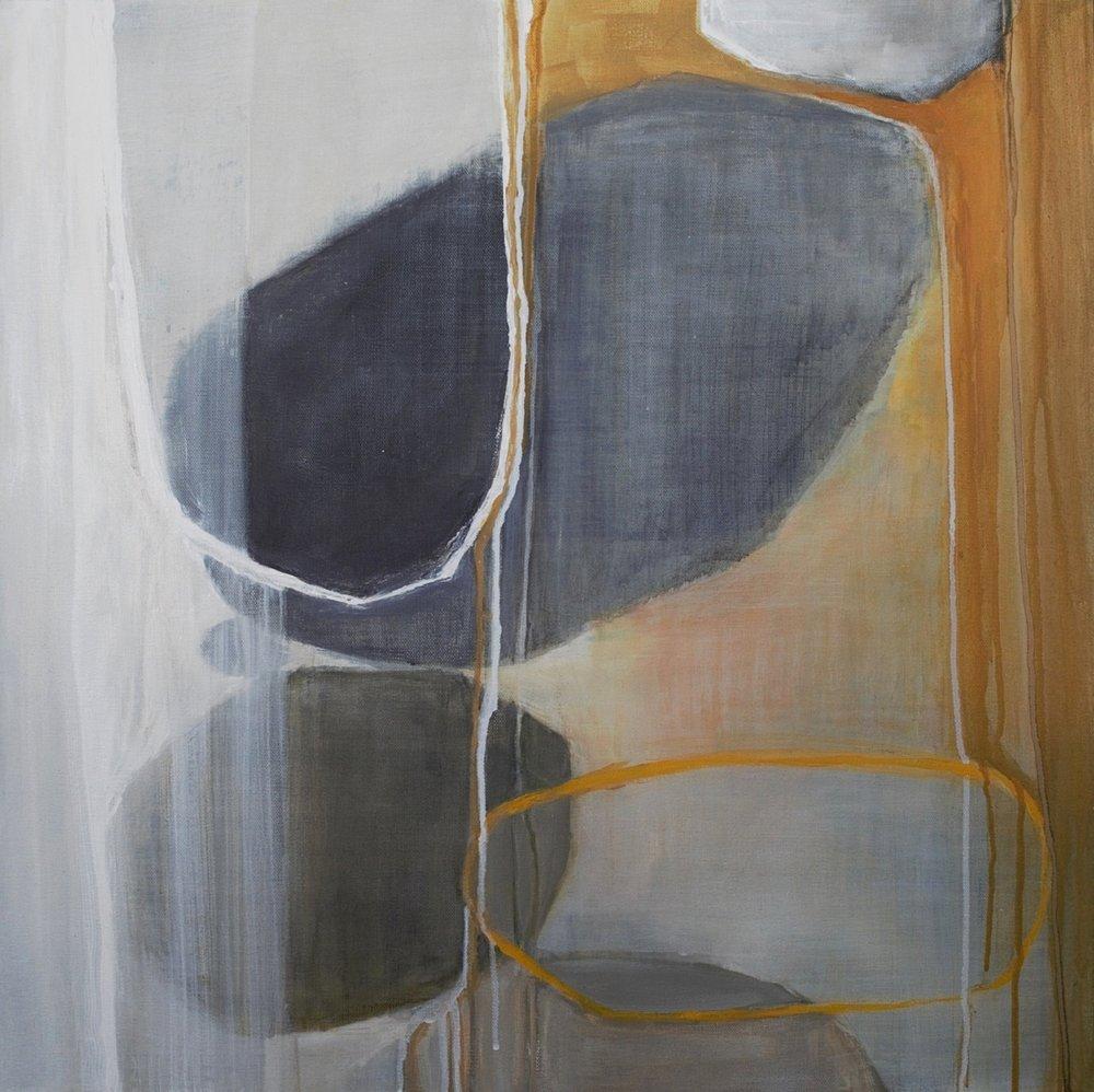 """Quieter Flow, 2016  acrylic on canvas  24"""" x 24"""" x 1.5"""""""