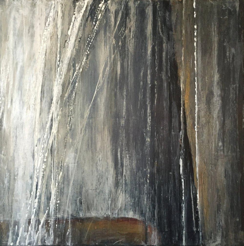 "How High is the Fall, 2016  acrylic on canvas  24"" x 24"" x 0.75"""