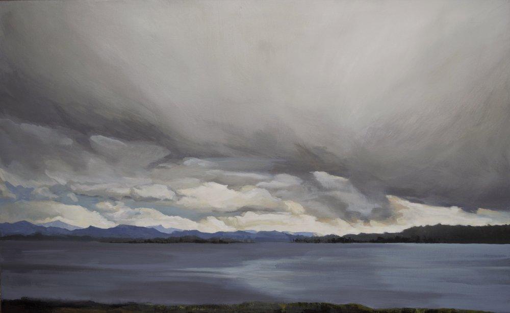 "Rain or Shine-3, 2017  acrylic on canvas  24""x 36""x 1.5"""