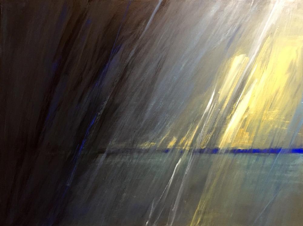 """Rain or Shine-2, 2016  acrylic on canvas  24""""l x 30""""w"""