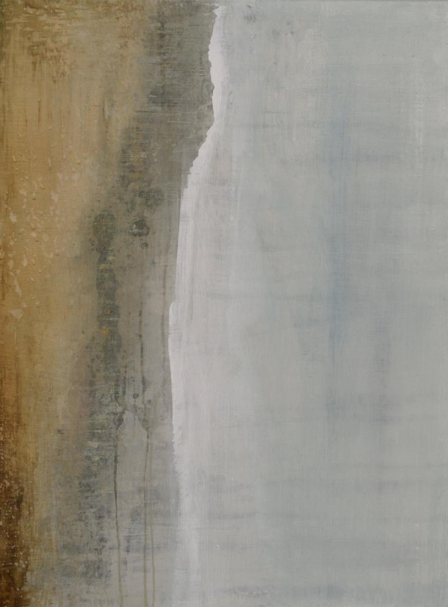 "Ice Stream, 2017  acrylic on canvas  24"" x 18"" x 0.75"""