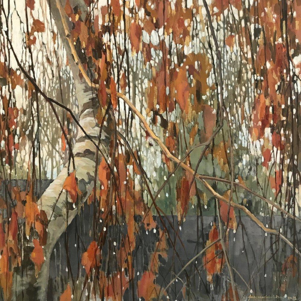 """Between Raindrops  acrylic on canvas  24""""x 24""""x 1.5"""""""