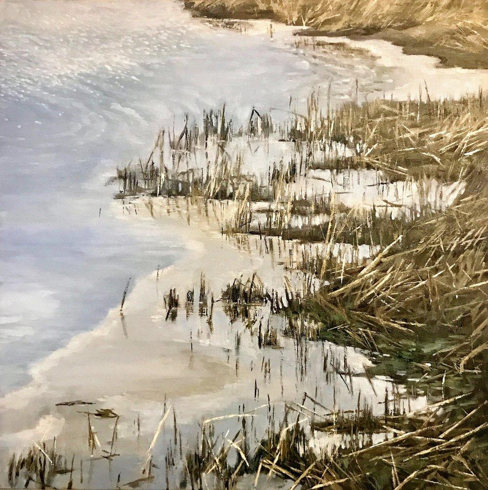 "Murmur of the Mohawk 2019  oil on canvas  24"" x 24"" x 1.5"""