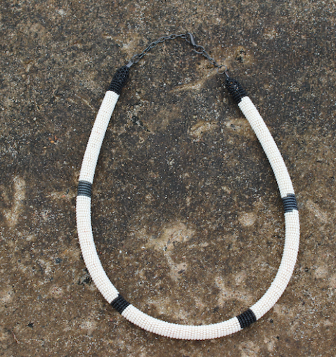 Isiyingi Circle Necklace In Charcoal by  Thanda Zulu