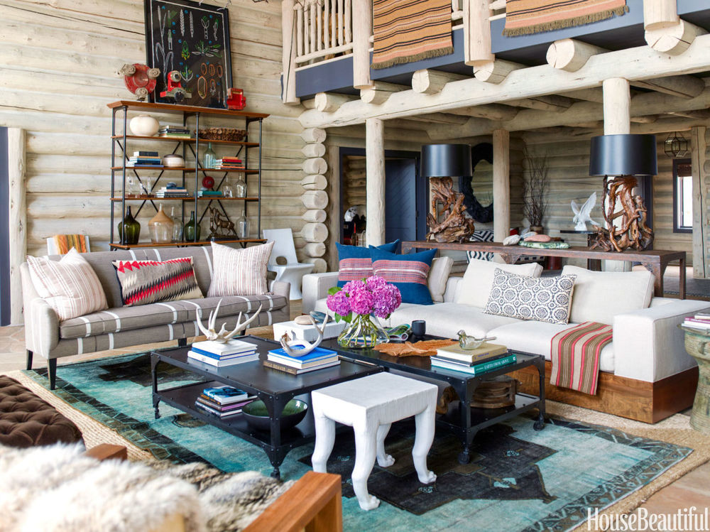 living room - log cabin thom filicia