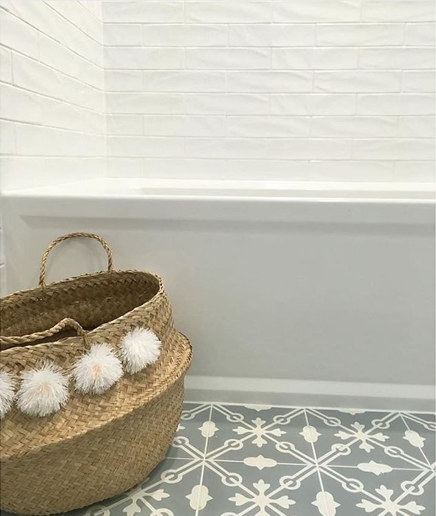 Tiles with interesting patterns, such as encaustic cement tiles or painted terracotta tiles are enjoying lots of popularity. Powder rooms are a perfect location to be more daring with patterns and colors and it makes it all the more memorable for your guests.