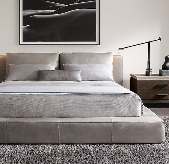 Modern Natural - More and more modern interiors are coming. I like to juxtapose modern clean lines with lots of textures and natural materials to get just the right balance between modernism and comfort. Picture from Restoration Hardware
