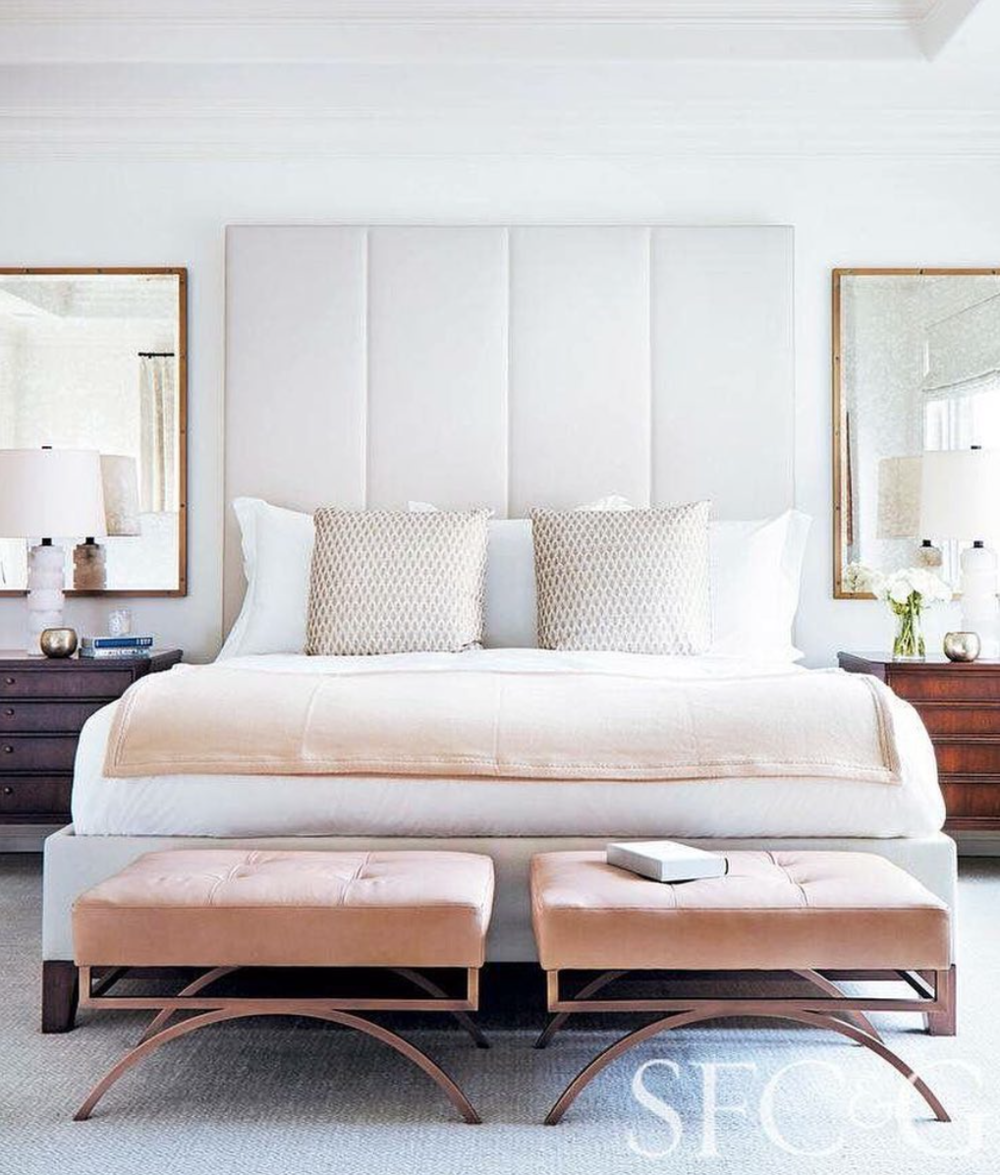 BLUSH, Tissue Pink - Call it what you will but this color is on the rise! I've seen it emerge over the last year and it has been in almost every showroom this fall. I especially love it in a bedroom or reading nook. Design by Heather Hilliard Design