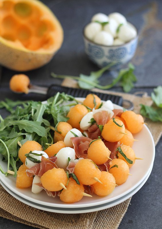 Finger Food              - You can't entertain without having delicious food. These simple Melon, Prosciutto and Mozzarella sticks will make just about anybody happy! This easy recipe we found will help you elevate all your summer gatherings.