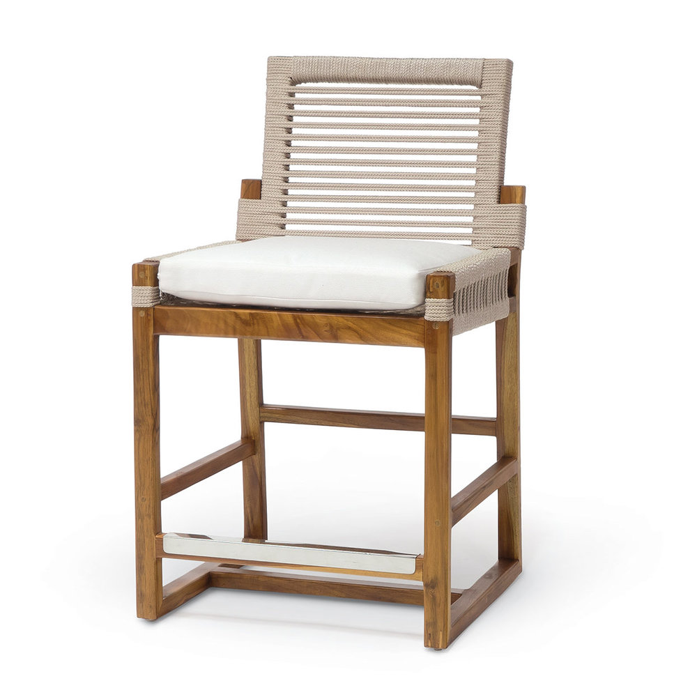 Seating              - We love the idea of creating a comfortable, functional and intentional space. These Paleck Barstools will brighten up you home. They are great for summer and year-round enjoyment. We love the woven detailing and the golden brown base. You can use these versatile bar stools inside or outside.