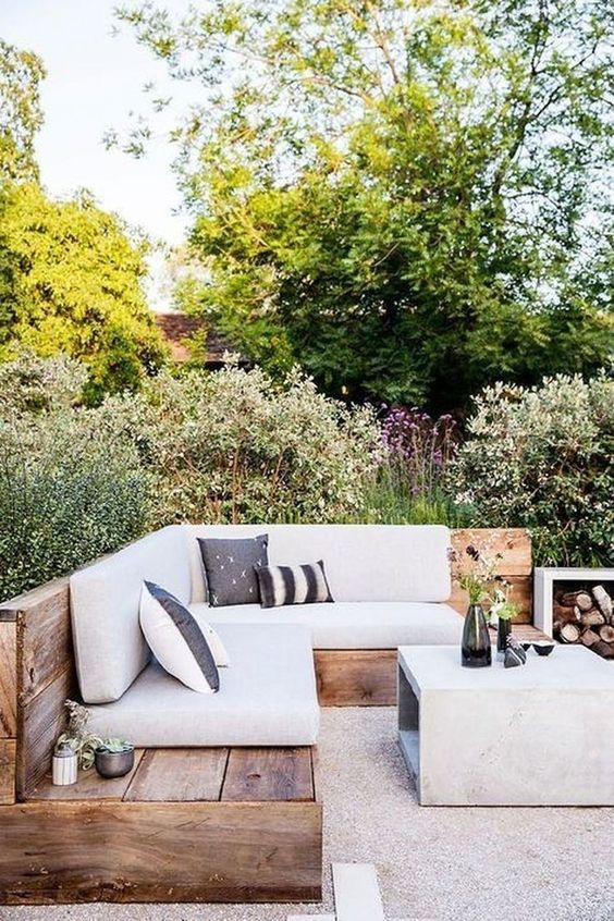 Outdoor Living     - We are all about spending summer nights eating outside with friends and family. This weather won't last forever! We love this outdoor lounge space, ideal for all your entertaining!