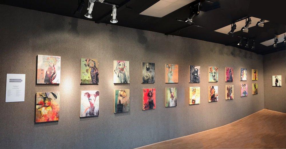 Kirsch Gallery-Installation View, Long Wall (2017)