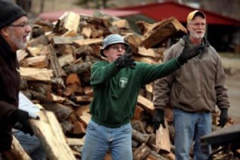 Loading wood