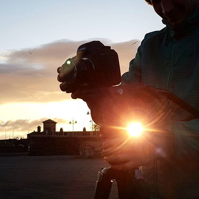 Early Morning Filming . . . #eighthdoor #filming #earlymorning #sunrise #dunlaoghaire #videoproduction
