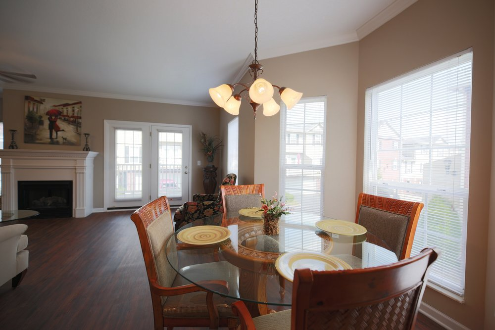 Bay windows provide beautiful natural lighting.