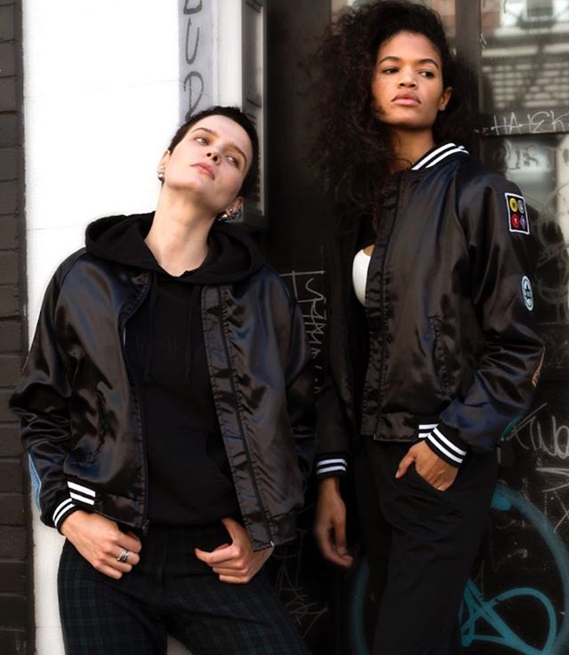 Fierce & Confident. Rock it, own it. 👊 #wearyourWILL Ft our WLxNY bomber jacket #mondaymotivation