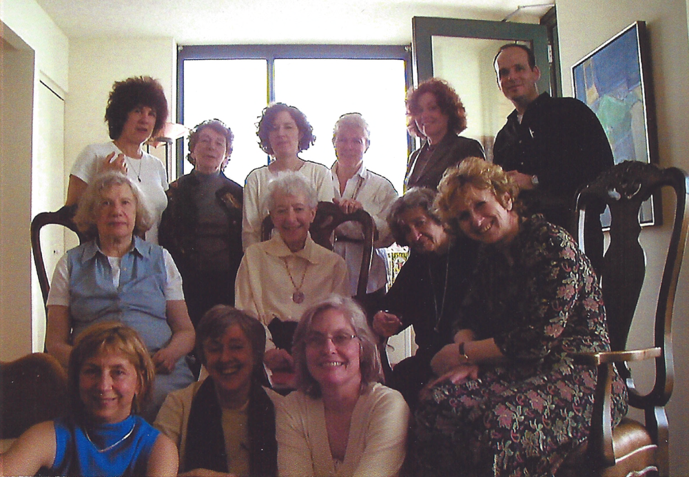 Top row: Nanette Funk (left), Alan W. Grose (right). Middle row (left to right): N/A, Sue Weinberg, Beatrice Kachuch, Eva Kittay. Bottom (left to right): Nancy Holmstrom, Marcella Tarazzi Goldsmith, Christana Arp. May 2003.  Society for Women in Philosophy Collection, Feminist Theory Archive, Brown University