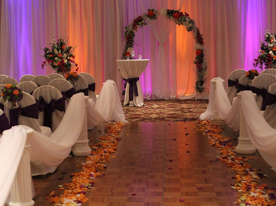 Ballroom ceremony set up