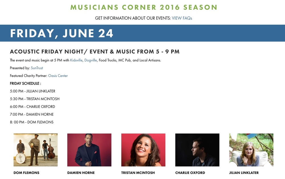 Jilian Linklater live at Musicians corner on Friday, june 24th at 5pm