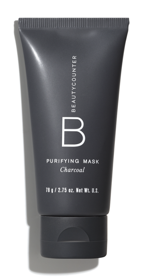 Charcoal Mask after cleansing.   (Purifying Charcoal Mask works to gently exfoliate, draw out impurities, and soothe.)