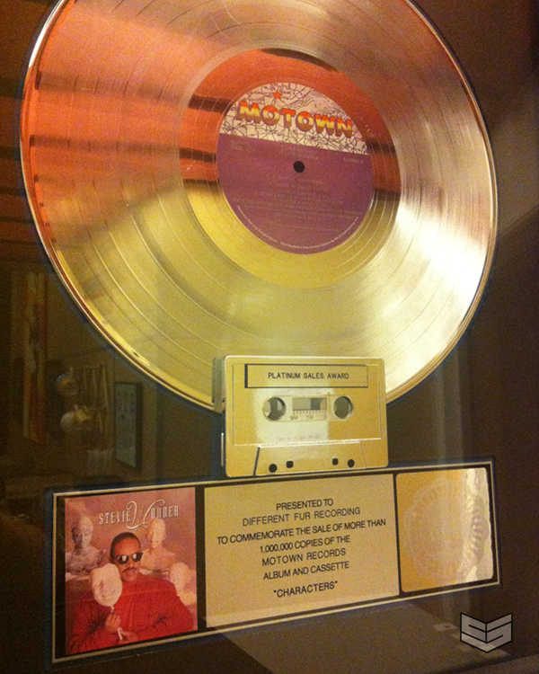 stevie wonder plaque platinum a-1