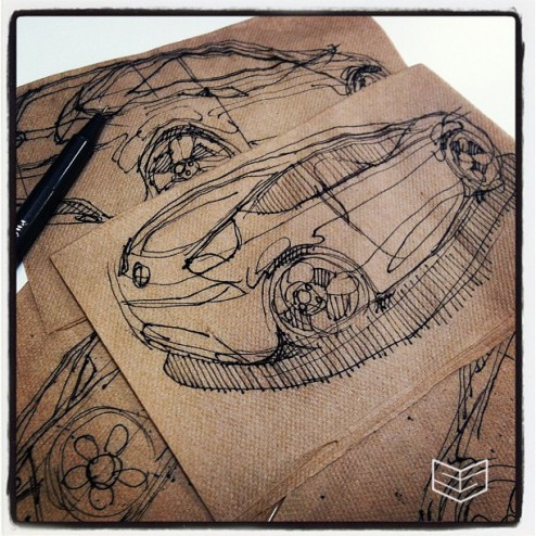 napkin sketch creative design