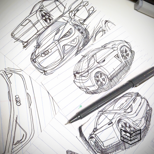 Audi sketch creativesession cars