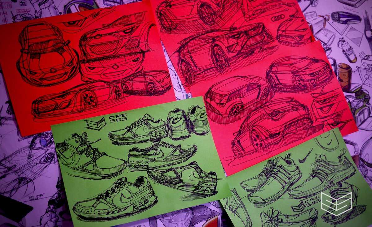 audi bmw nike sketches creativesession design