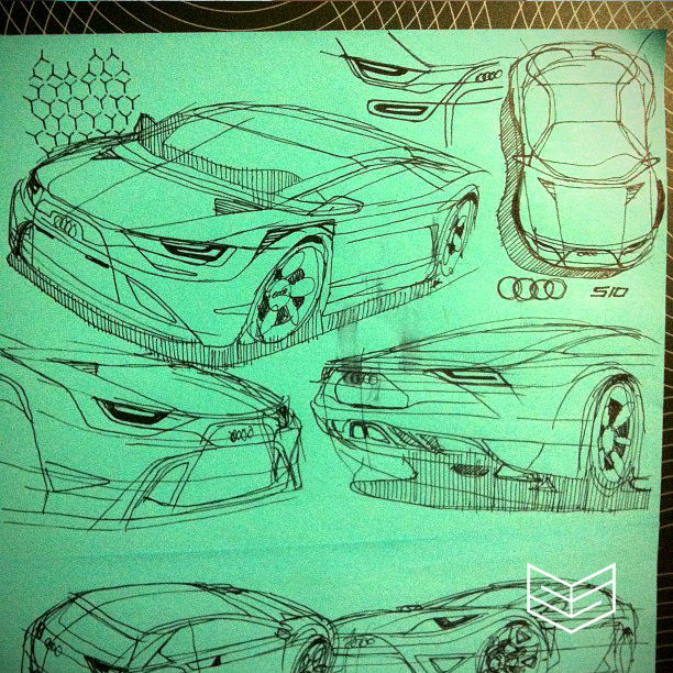 creativesession sketch design drawing audi