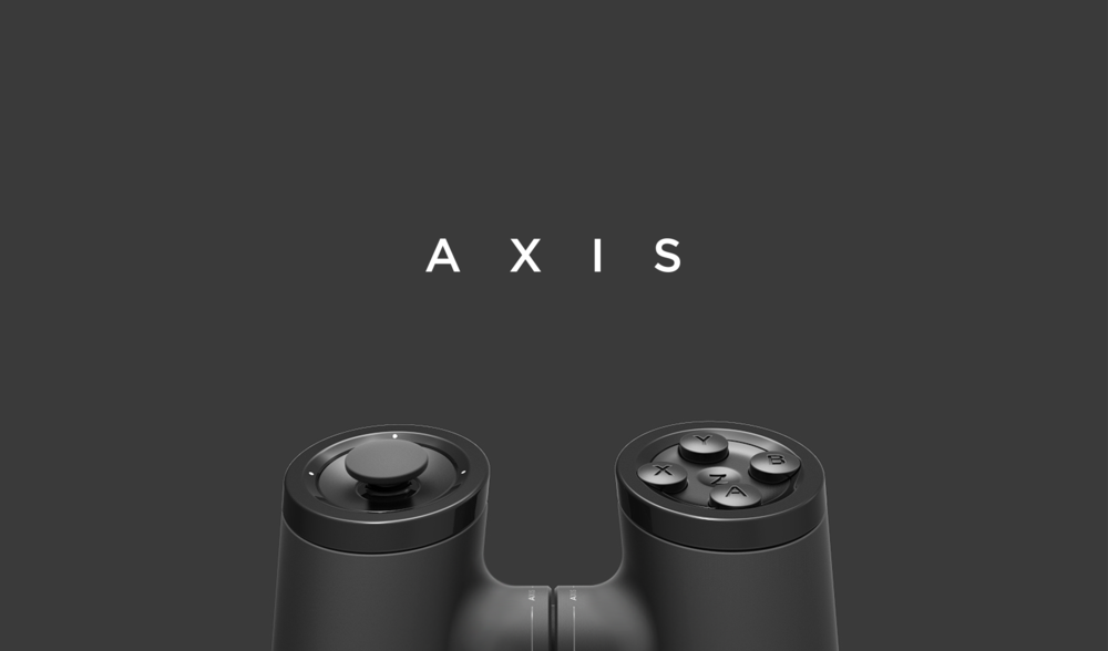 The top half of the axis gaming controller